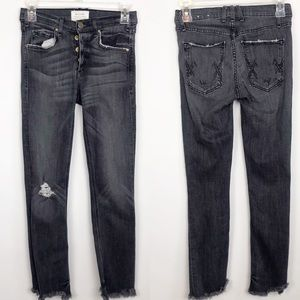 McGuire Newton Fray Hem Crop Skinny Jean 24 Gray